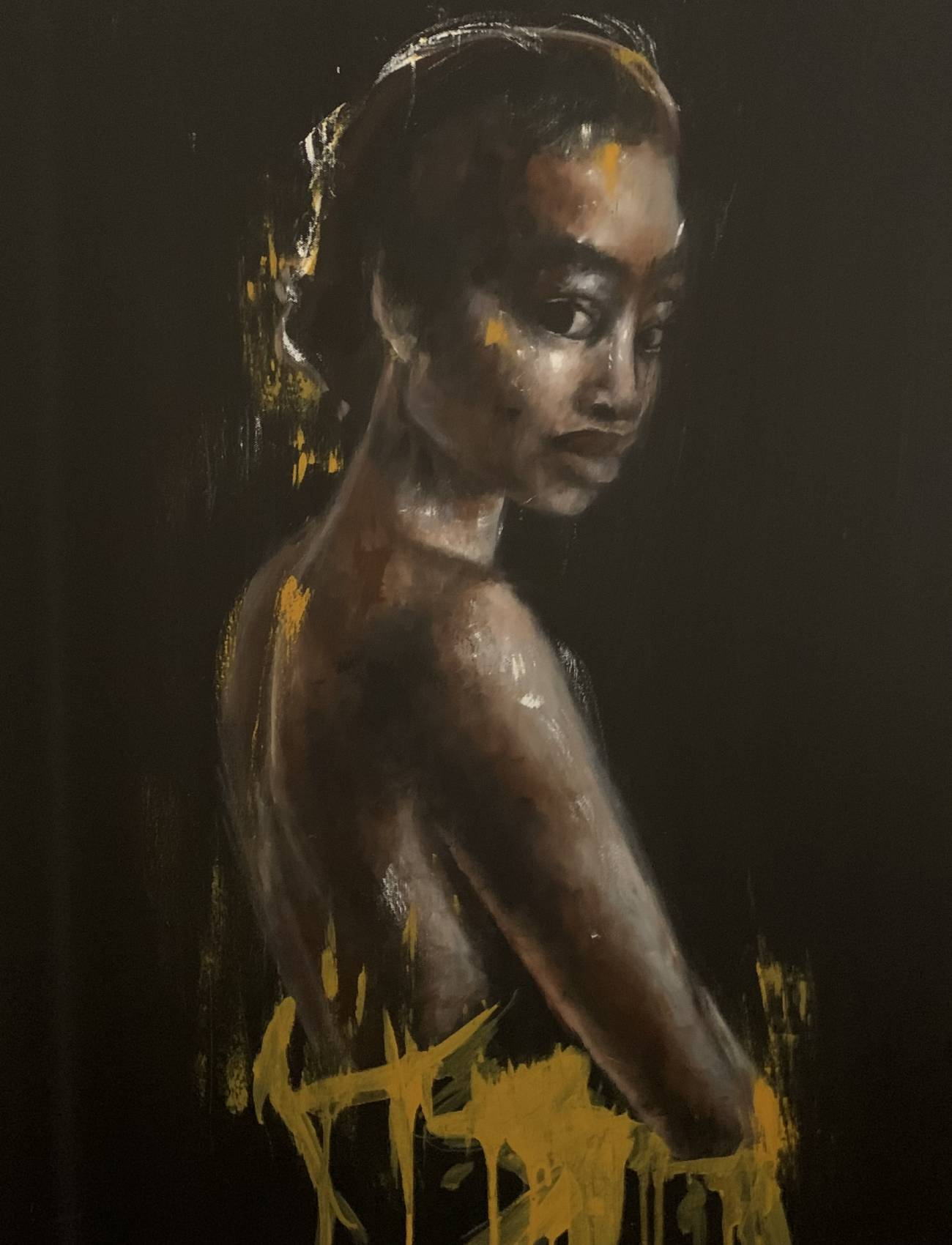 Lady in Yellow   30 x 40 inches
